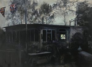 'They'd have a party and everyone could go', Judith Tucker, Oil on linen, 60 x 80 x 4 cm