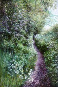 'Solitude', Karen Spencer, Acrylic on canvas, 65 x 45 x 3.5 cm