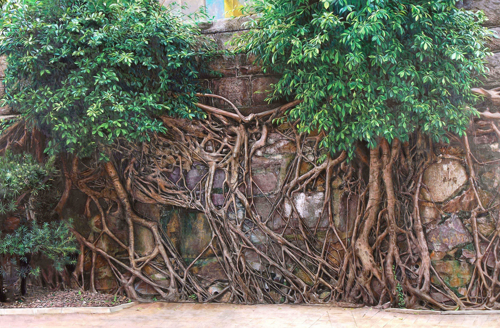 'Rooted in Survival', Kwong Tim Jackson Lee, Oil on canvas, 121 x 182 cm