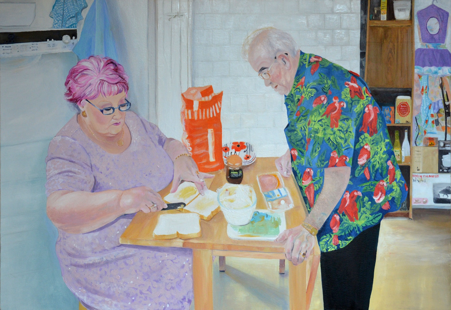 'Ron and Penny Jones', Louise Allen, Oil on canvas, 90 x 60 cm