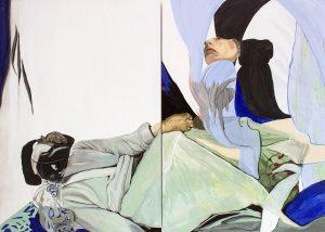 'Between Man and Man', Magdalena Gluszak - Holeksa, Oil on board, 61 x 85 x 4.4 cm