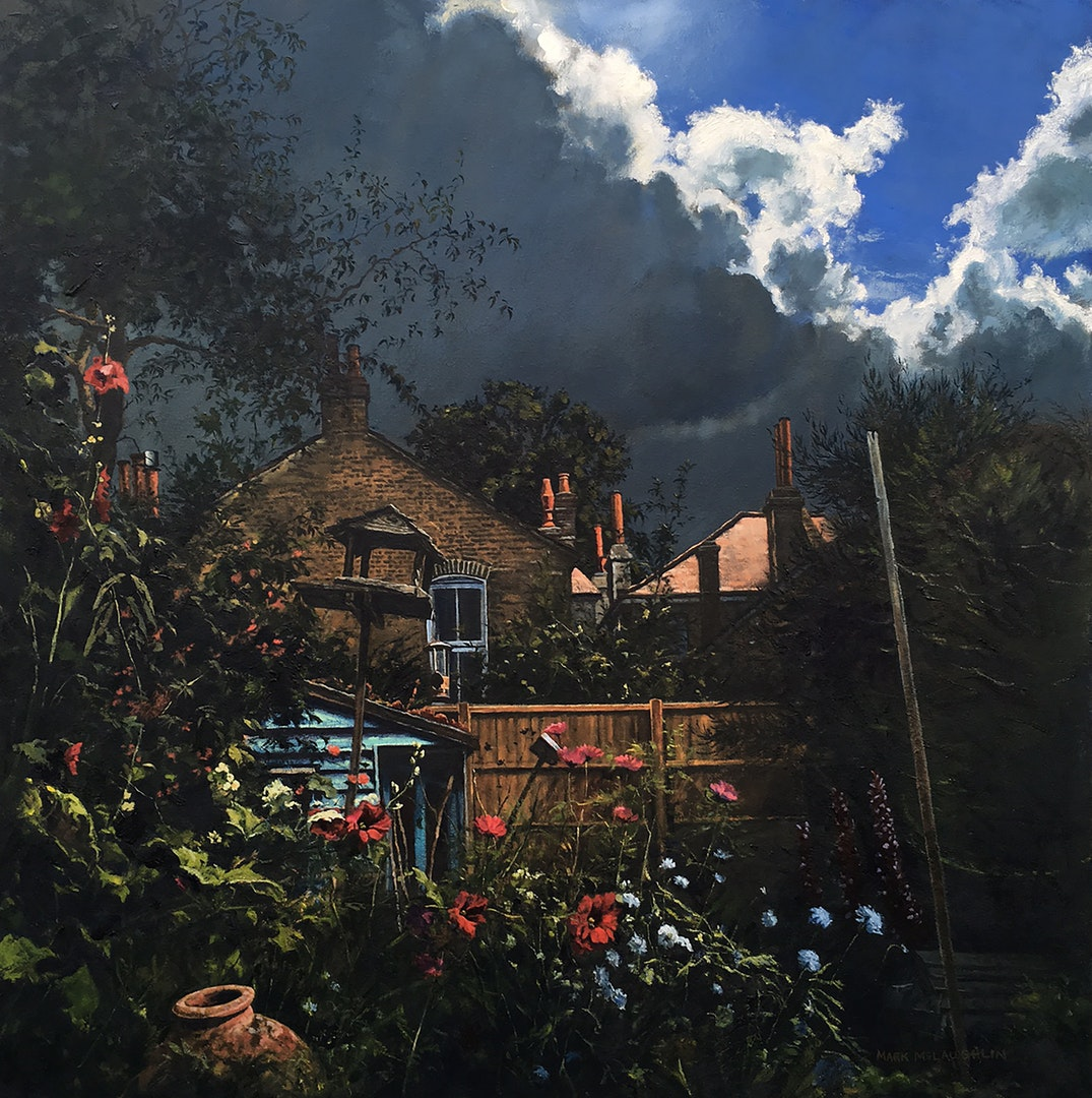 'Fin's garden', Mark McLaughlin, Oil on canvas, 76 x 76 cm