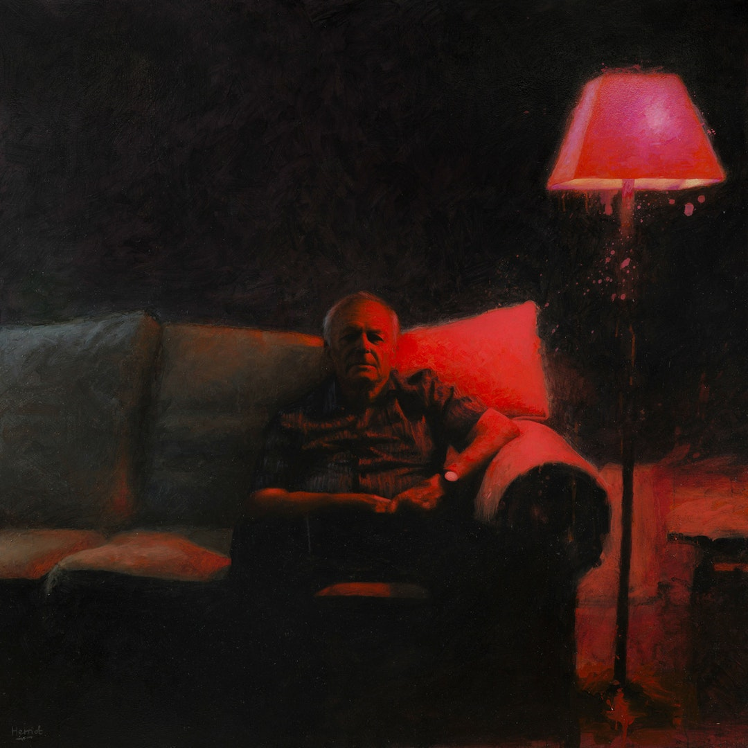 'Remote II', Matt Herriot, Oil on canvas, 152 x 152 x 4 cm