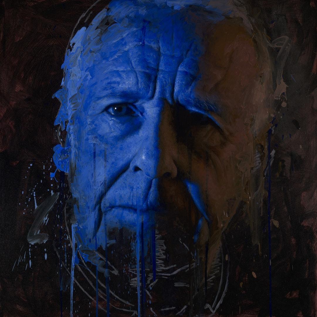 'Remote III', Matt Herriot, Oil on canvas, 121 x 121 x 4 cm