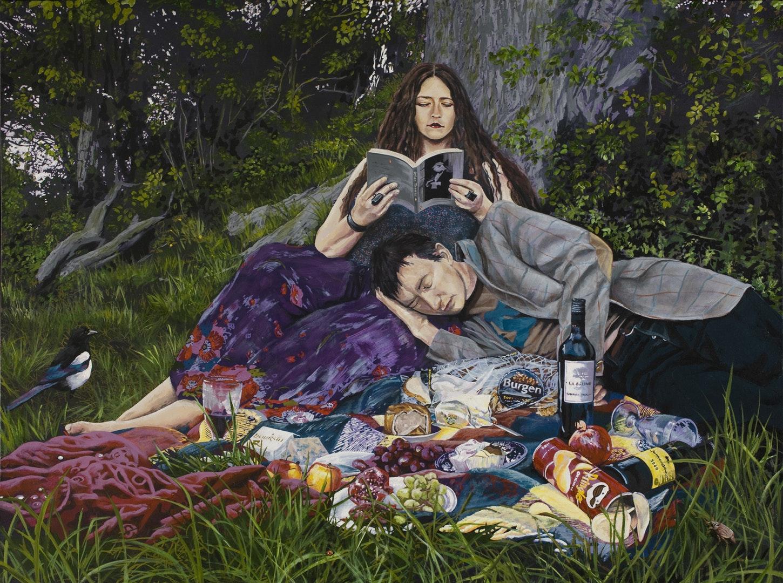 'Empty Couplet', Matthew Stevens, Acrylic on canvas, 91 x 122 x 4 cm
