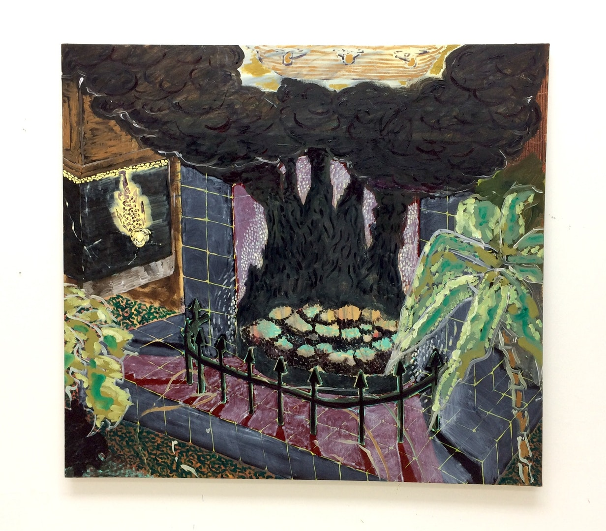 'Black Fireplace', Max Gimson, Oil on canvas, 145 x 135 cm