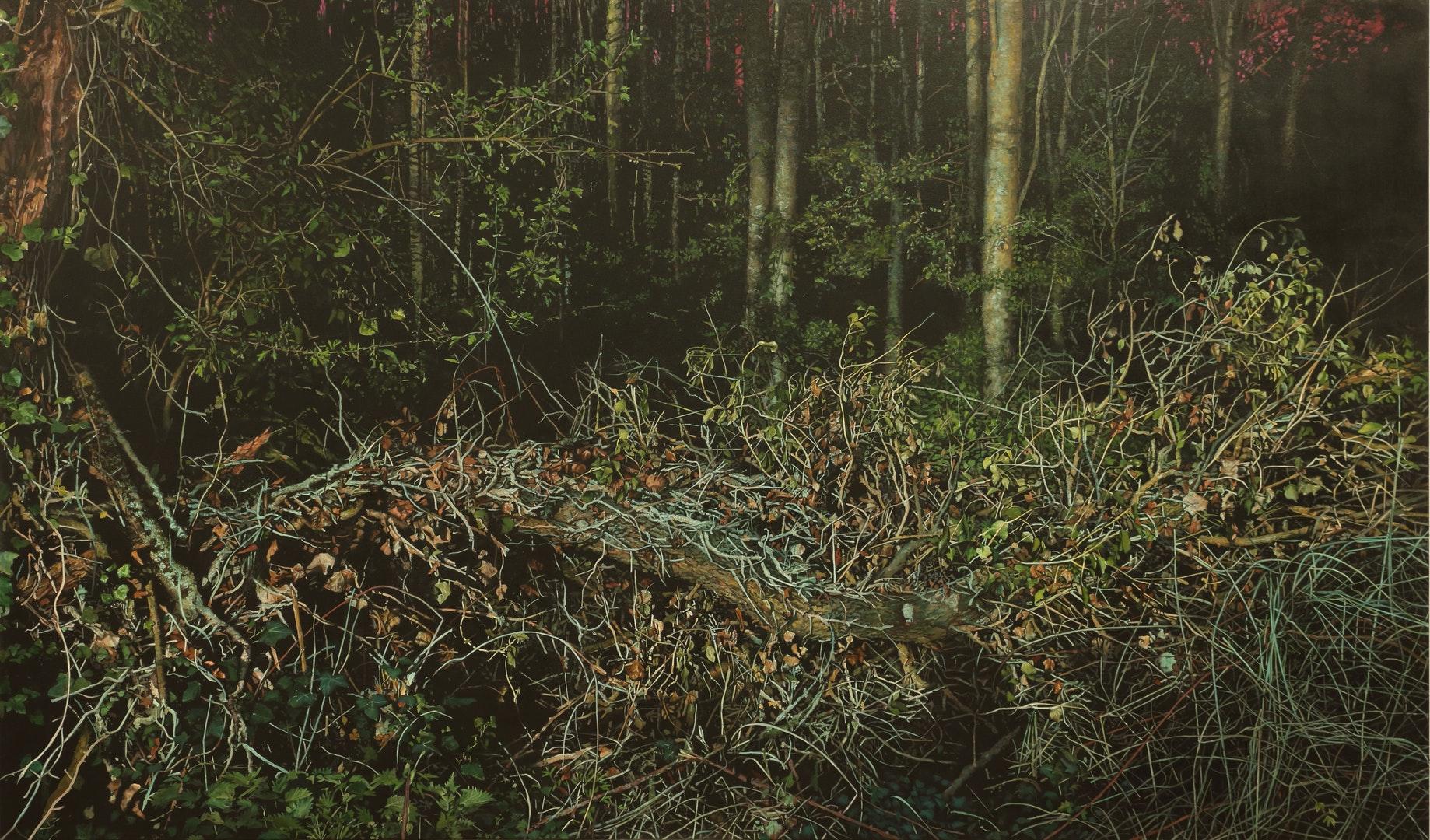 'Fallen (II)', Michael Corkrey, Oil on canvas, 130 x 220 x 3.2 cm