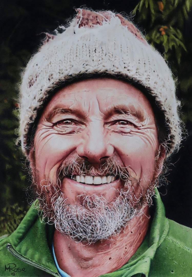 'Larry Roy', Michael Rose, Colour pencils, 21 x 29.7 cm