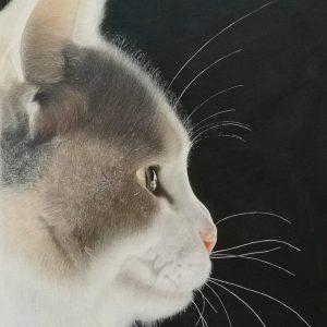 'Lumi', Michelle Wilson, Luminance pencils and acrylic on paper, 42 x 29.7 cm