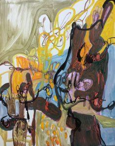 'Wechsellied', Nadja Gabriela Plein, Oil on dibond, 100 x 80 x 1 cm