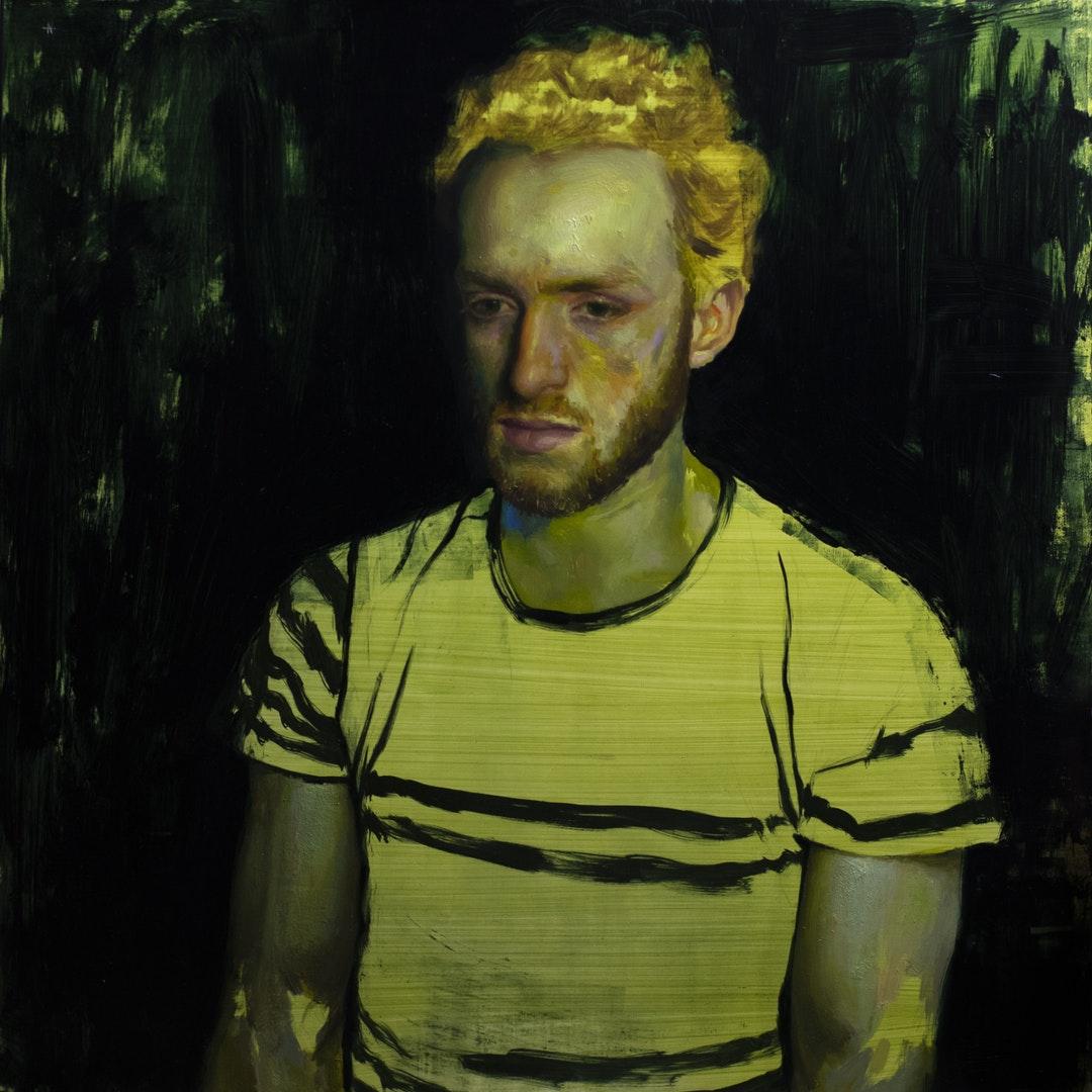 'Mono no aware #2', Naima Aouni, Oil on panel, 60 x 60 cm