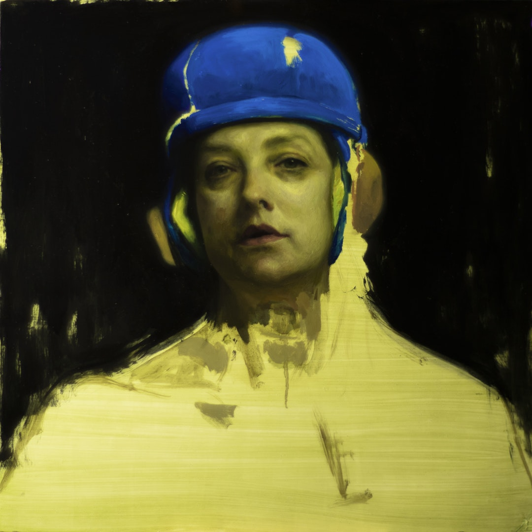'Mono no Aware', Naima Aouni, Oil on panel, 60 x 60 cm