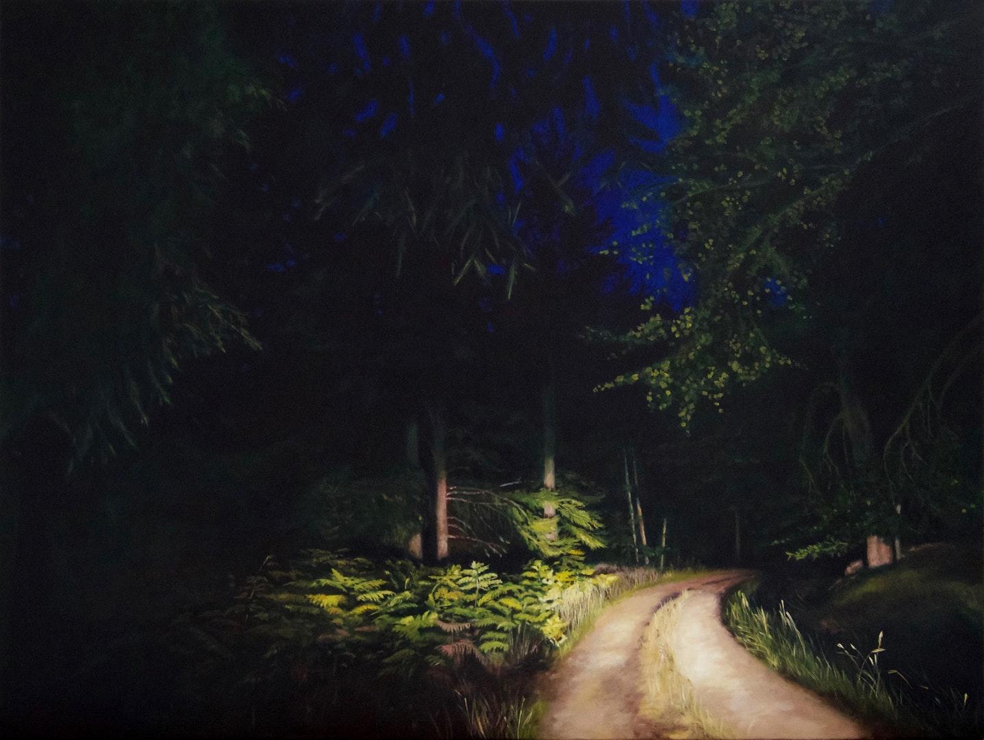 'Entre chien et loup 1', Natalie Dowse, Oil on canvas, 90 x 120 x 3 cm
