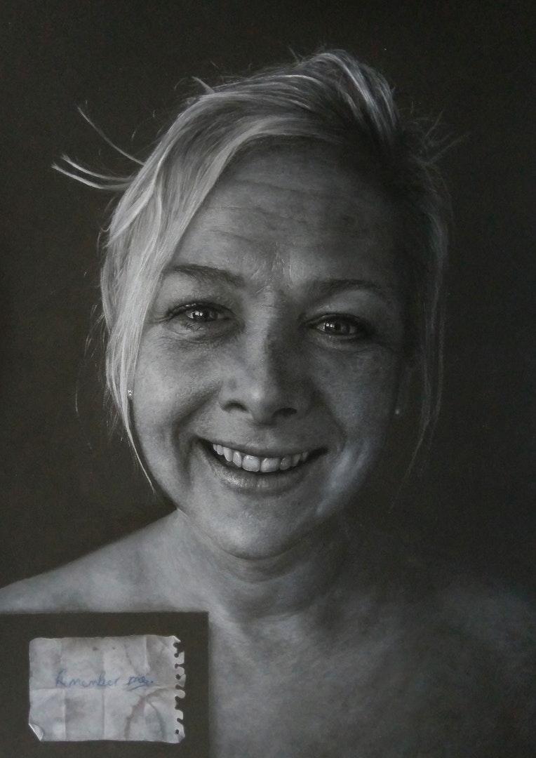 'Remember Me', Neil Pretty, Pastel pencils on paper, 70 x 50 cm