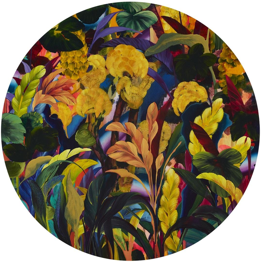 'Lizard Tongue', Orlanda Broom, Acrylic on canvas, 100 x 100 x 5 cm
