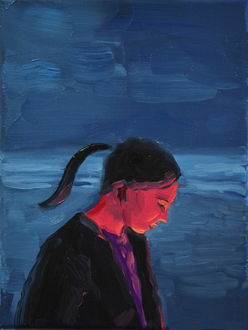 'Still Burns', Owen Normand, Oil on canvas, 24 x 18 x 2 cm