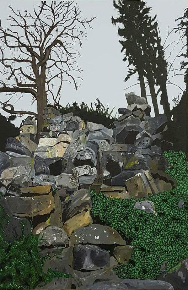 'Genesis', Paul Clifton, Acrylic on canvas, 92 x 61 x 4 cm