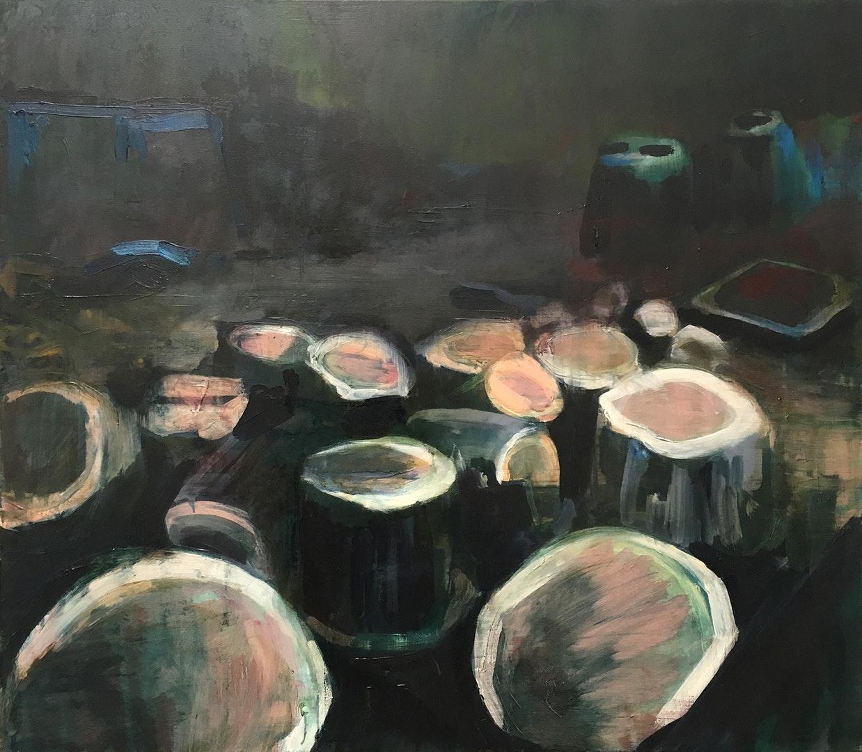 'Dendro', Paul Smith, Oil on canvas, 70 x 80 x 3 cm