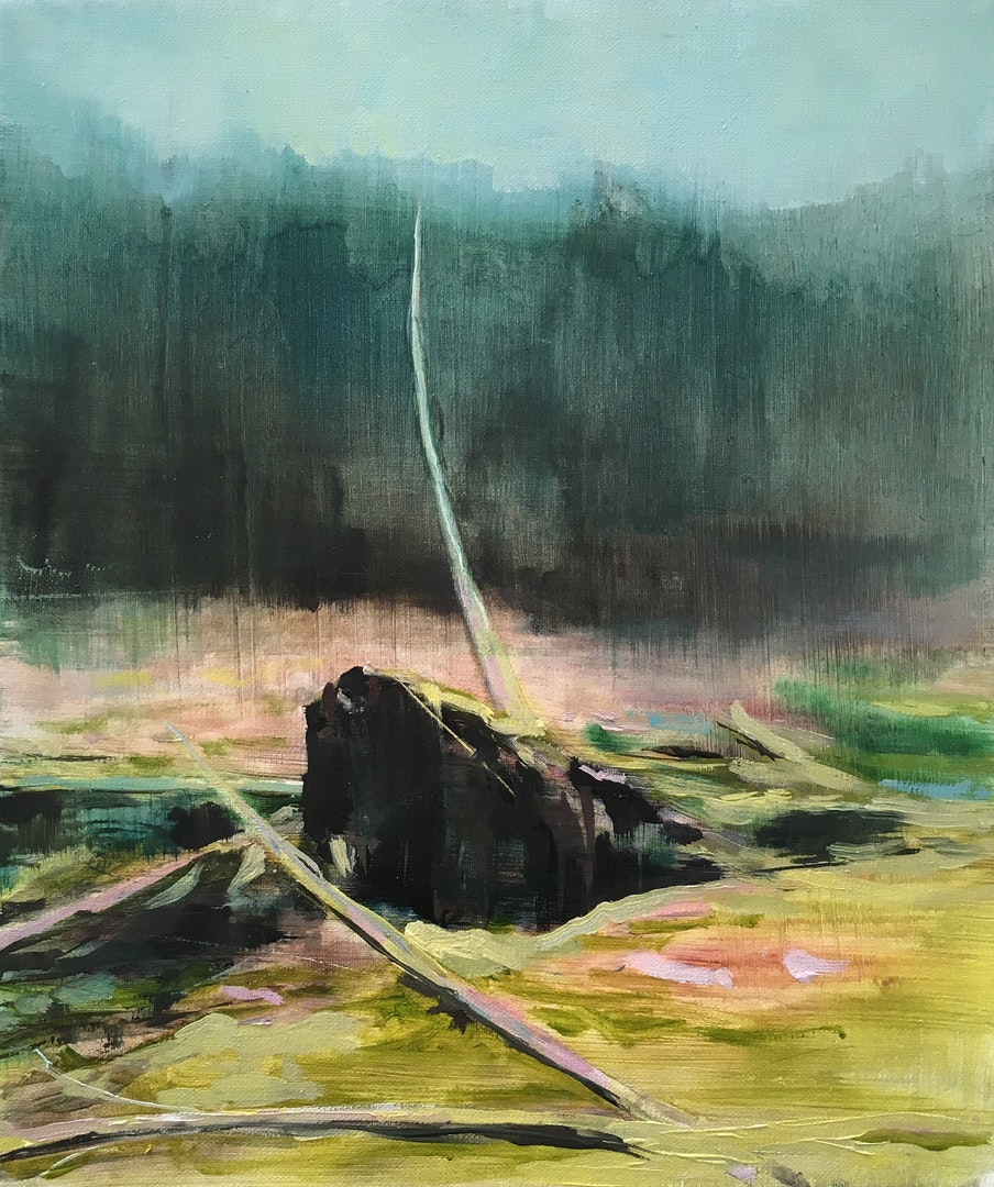 'The Fallen', Paul Smith, Oil on linen, 30 x 24 x 2 cm