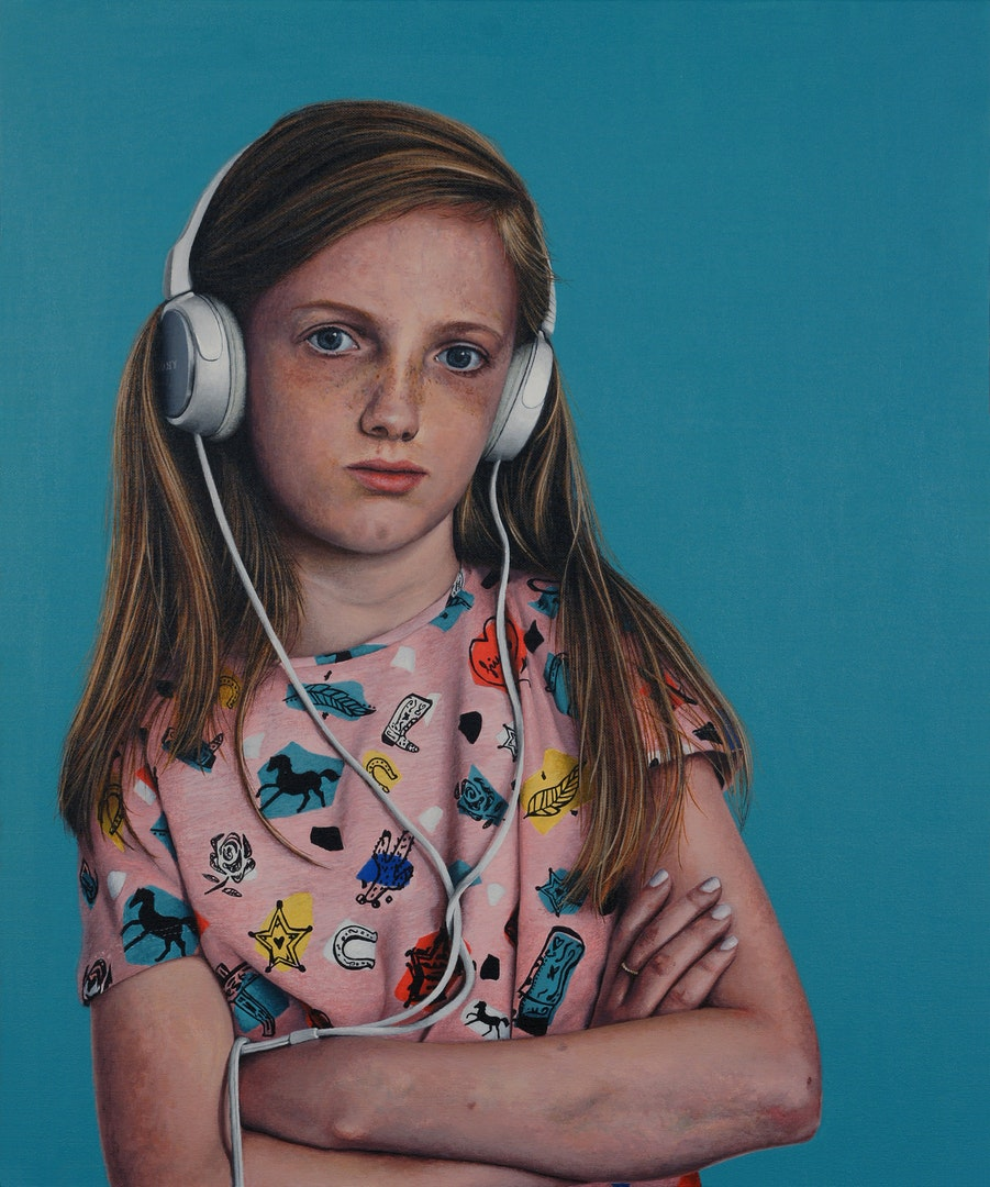 'Girls like you', Peter Davis, Acrylic on board, 61 x 51 x 1 cm