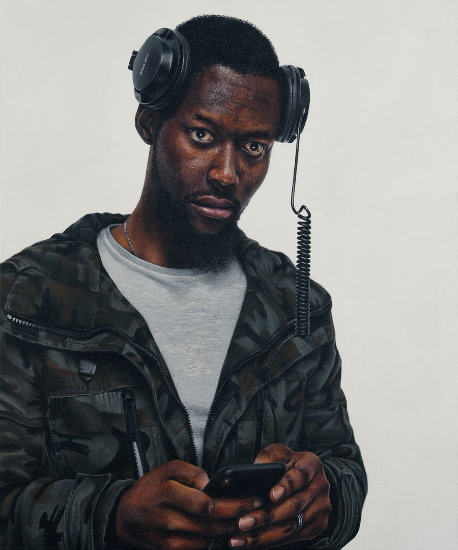 'Wetin dey', Peter Davis, Acrylic on board, 61 x 51 x 1 cm