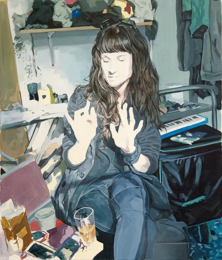 'Synchronized', Peter Sulo, Acrylic on canvas, 105 x 90 cm