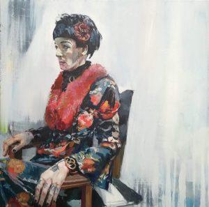 'Chrysalis', Philip Tyler, Oil on Canvas, 100 x 100 x 4 cm