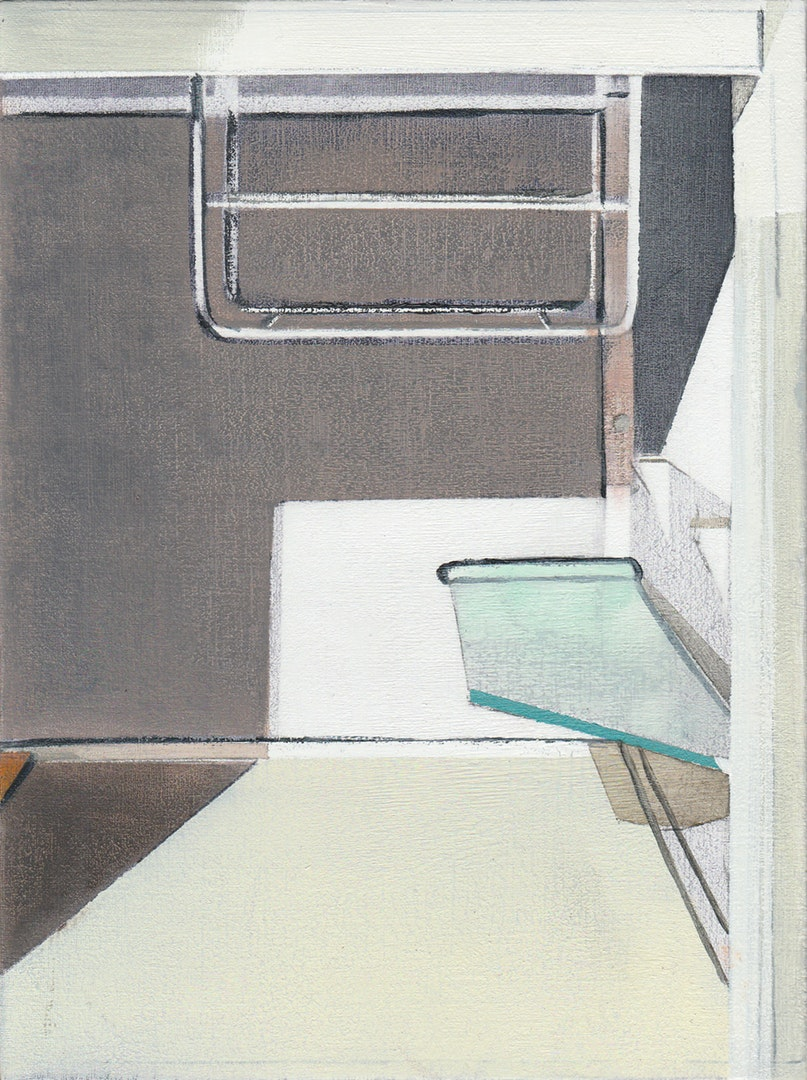 'Fridge', Richard Baker, Oil on calico, 20 x 15 cm
