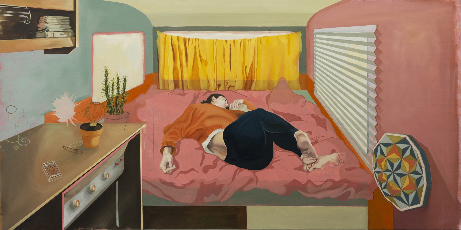 'Caravan II', Ruairi Fallon Mc Guigan, Oil Paint on Board, 1220 x 2440 x 3 cm