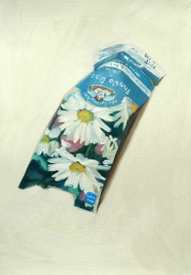 'Shasta Daisy', Sheri Gee, Oil on paper, 29.7 x 21 cm