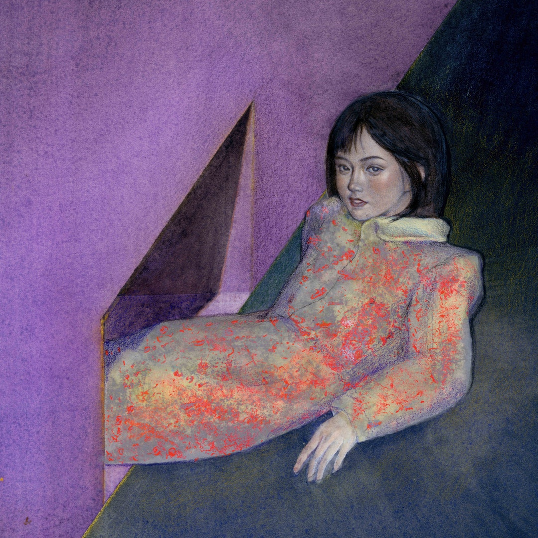 'gnotobasis', Sizuo Chen, Watercolour on paper, 20 x 20 x 4 cm