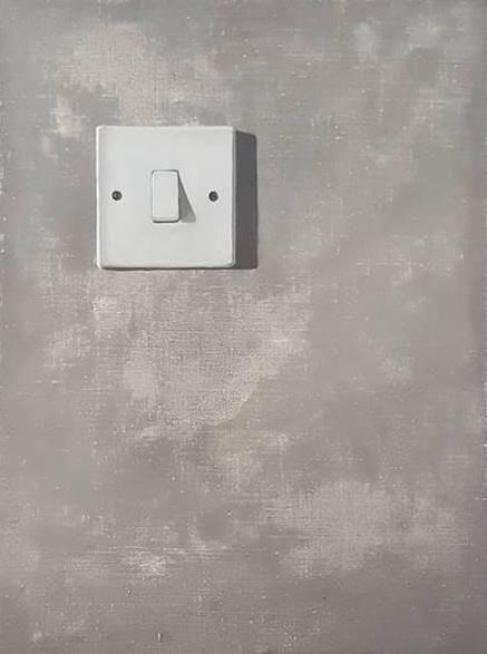 'Turn On', Sophia Sample, Oil on Linen, 50 x 40 x 2 cm
