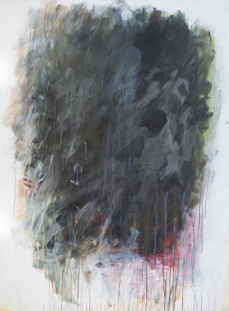 'A Bourgeois Dilemna', Staphan Sarkissian, Acrylic and oil stick on canvas, 161.2 x 122 cm