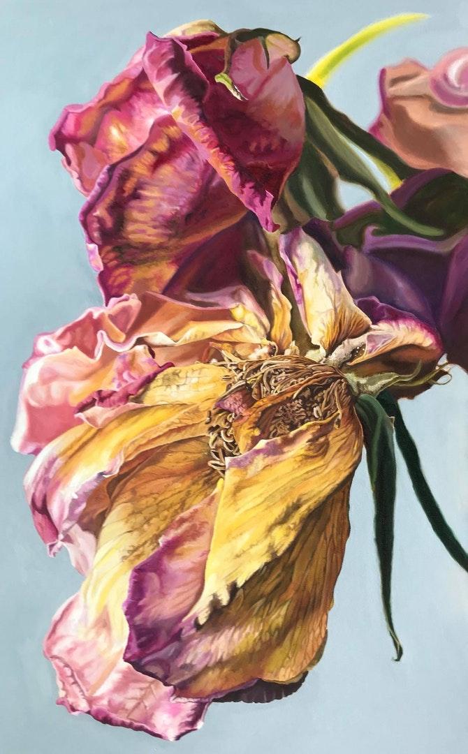'Tell Her That I'm Sorry', Teresa Overett, Oils on canvas, 90 x 60 cm