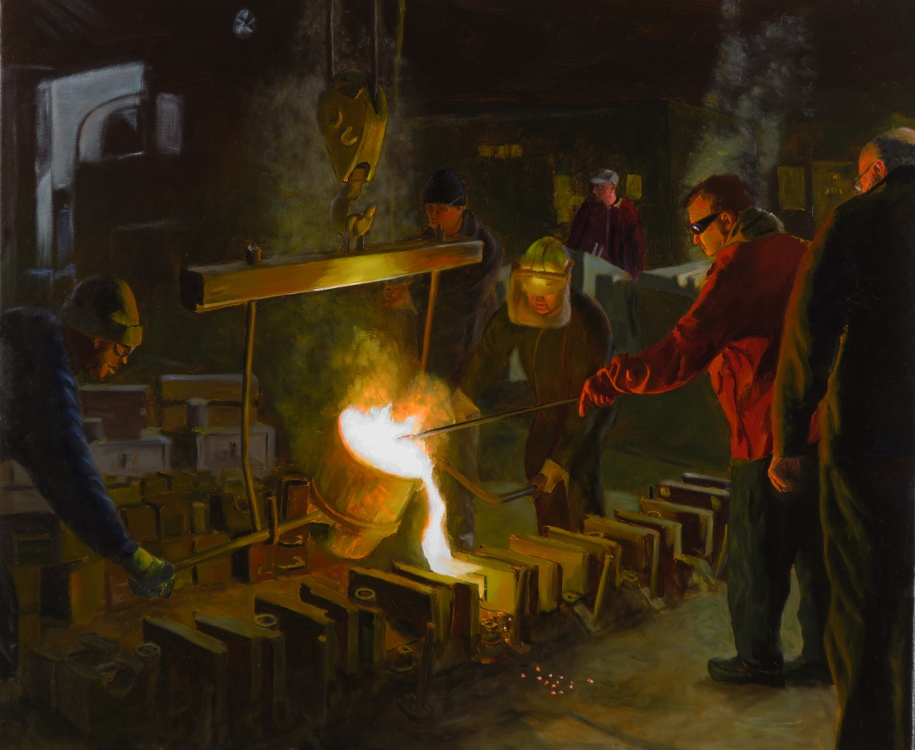 'Casting Steel', Terry Kent, Oil on Linen, 50 x 60 cm