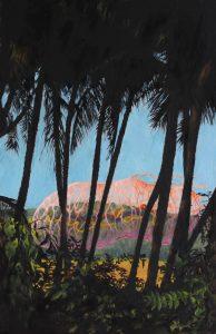 'Bacterium stroll', Tess Gray, Oil on card, 30.5 x 20.5 x 0.2 cm