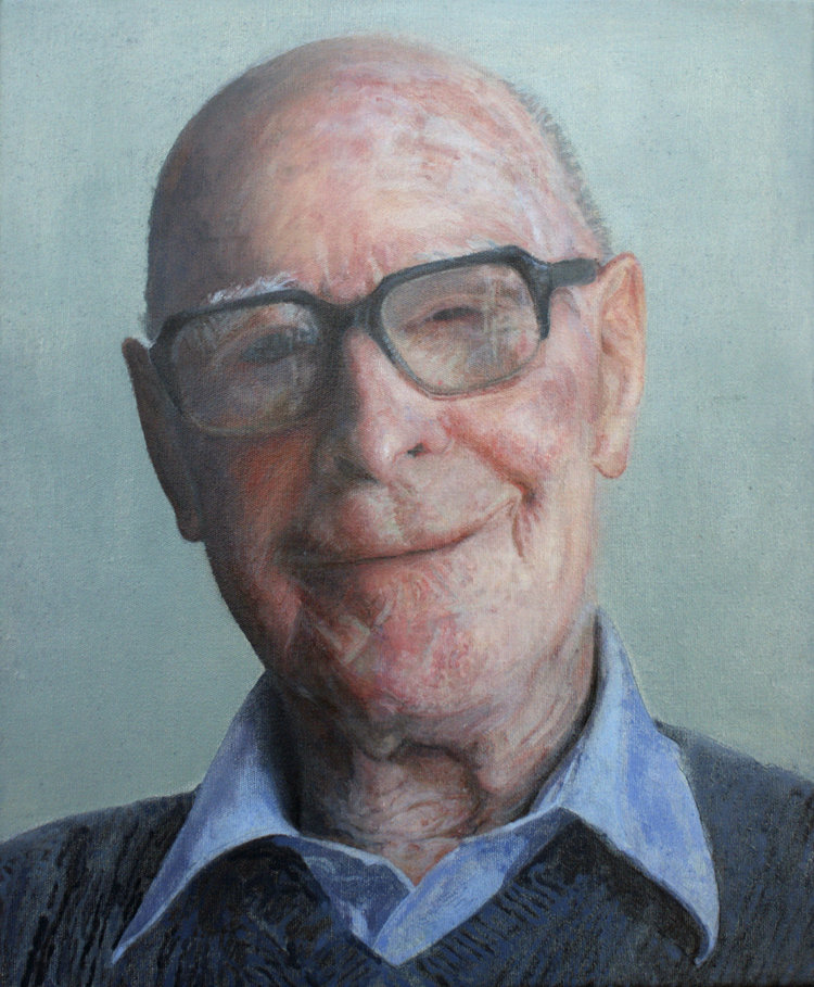 'Happy 95th Mr Johnson', Adele Chapman, Acrylic on canvas, 30 x 25 x 1.9 cm