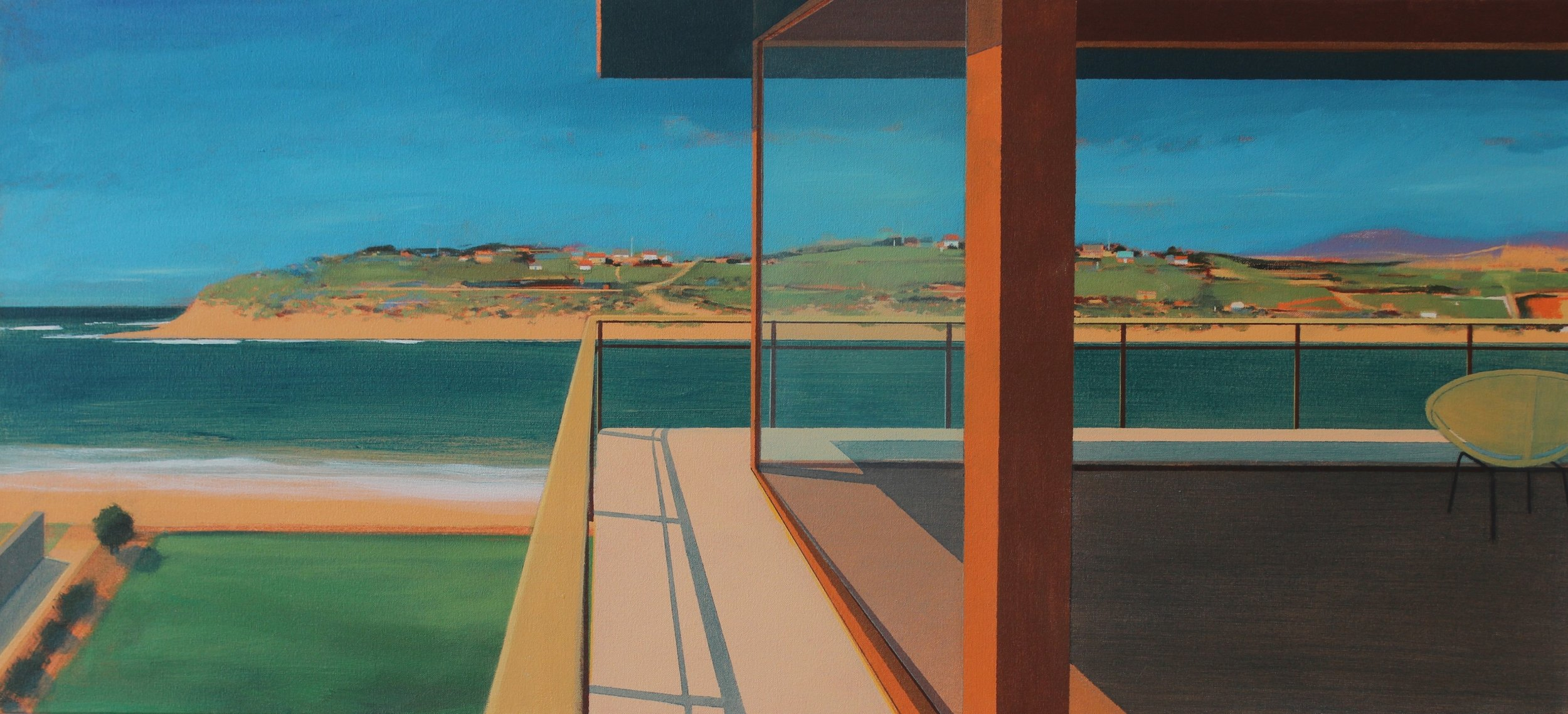 'Hayle Rivermouth, Cornwall', Alasdair Lindsay, Acrylic on canvas, 52 x 112 x 5 cm
