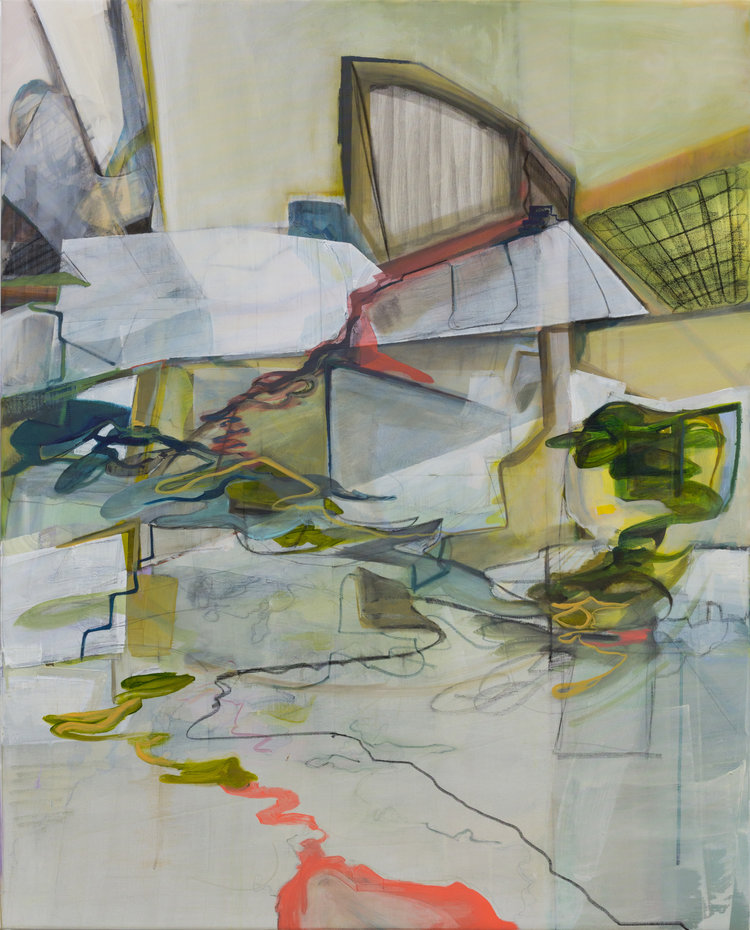 'Untitled', Anna Lytridou, Oil on polyester, 130 x 120 cm