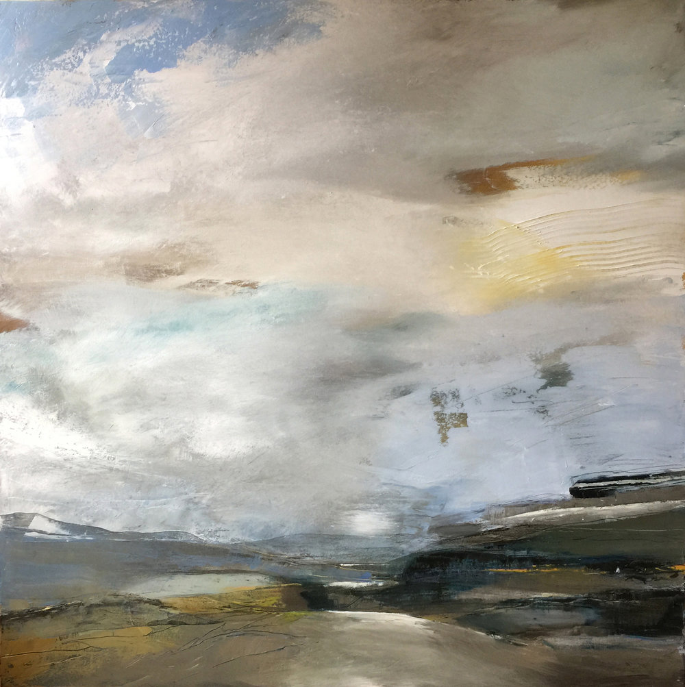'Space All Around', Belinda Reynell, Oil on canvas, 100 x 100 cm