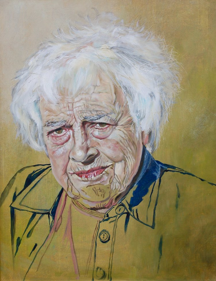 'Betty my M.i.L', Fiona Hackman, Oil on board, 42 x 35 cm