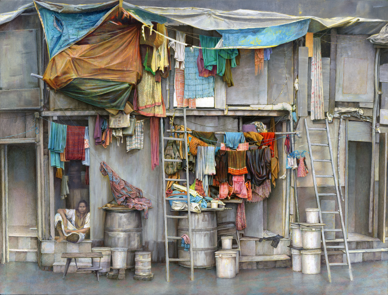 'Wadibunder Road', David Agenjo, Oil on canvas, 90 x 120 x 3 cm