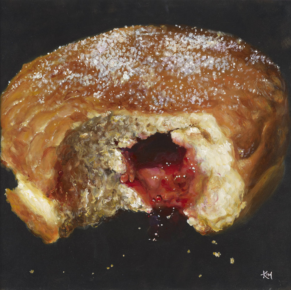 'Doughnut', Kim Haskins, Acrylic on board, 60 x 60 cm
