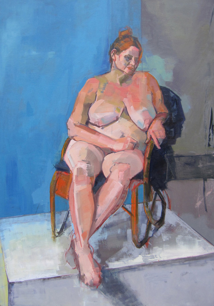 'Seated Nude', Eve Pettitt, Oil on canvas, 100 x 70 x 4 cm