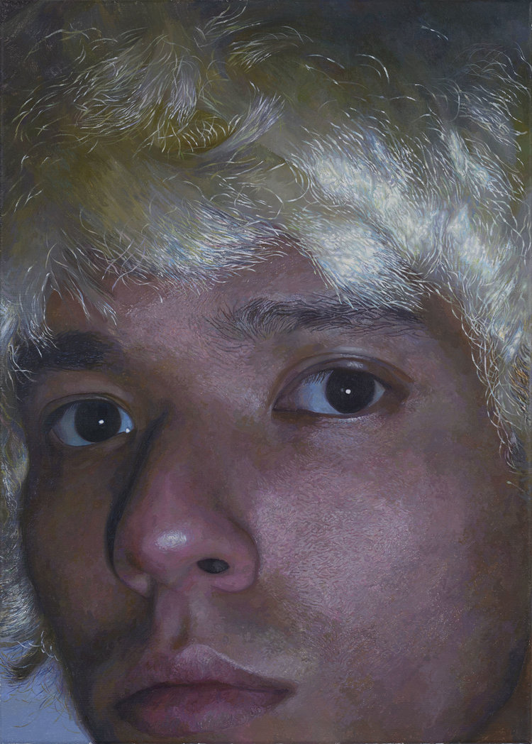 '(The) Blonde Wig', Fakhri Bismanto Bohang, Acrylic on canvas, 70 x 50 x 2 cm
