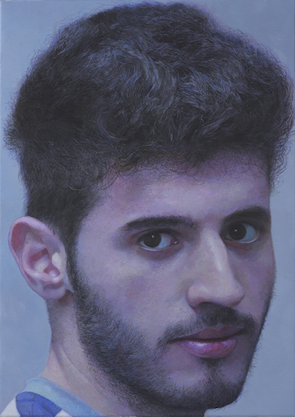 '(The) Boy from Homs', Fakhri Bismanto Bohang, Acrylic on canvas, 70 x 50 x 2 cm