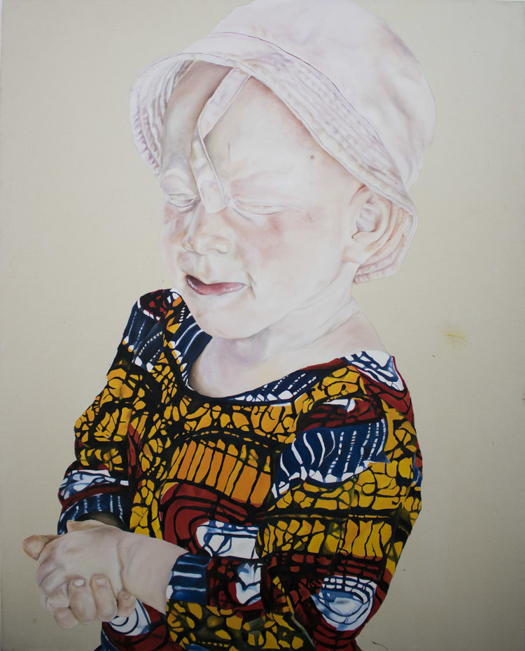 'Judie', Annie-Marie Akussah, Oil paint on canvas, 150 x 120 cm