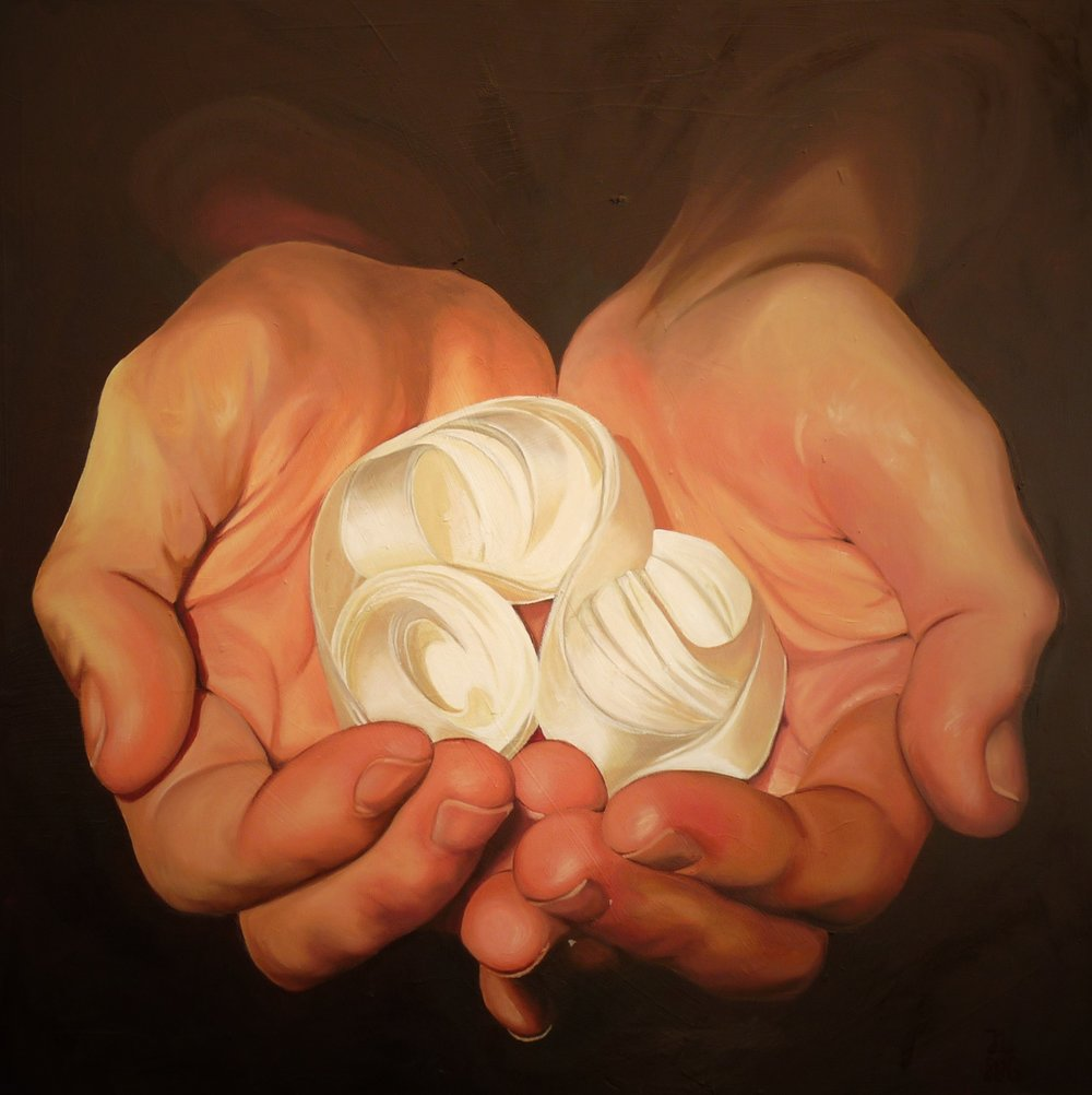 'Holy', Jennifer Litts, Oil on panel, 61 x 61 x 2 cm