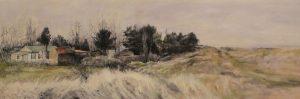 'No Through Road', Judith Tucker, Oil on canvas, 61 x 183 cm