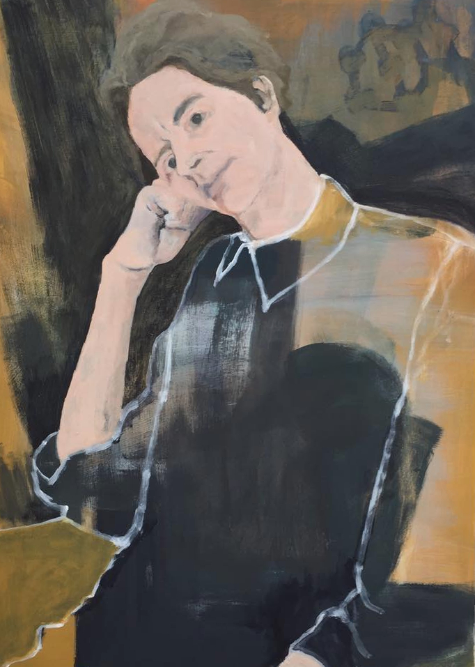 'Her Shirt', Maureen Nathan, Acrylic on birch ply panel, 90 x 65 x 5 cm